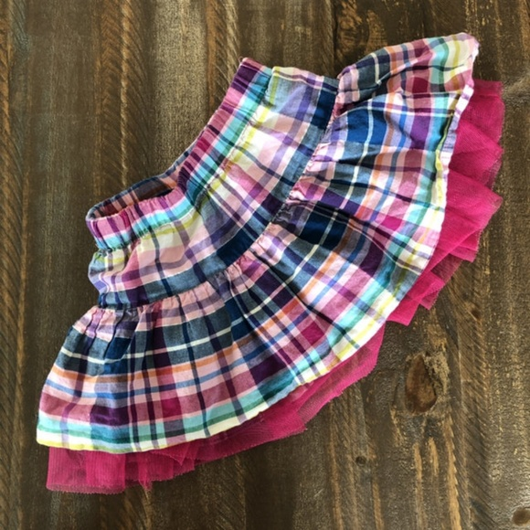 1989 Place Other - *3/$10* Plaid Skort  *read notes*